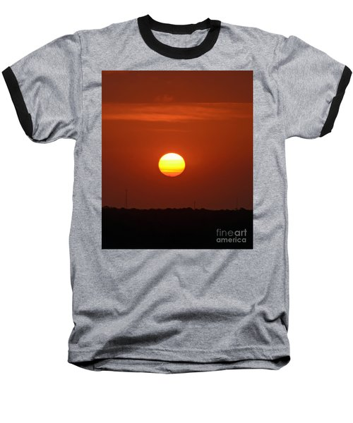 Fire In The Sky Baseball T-Shirt by Kerri Farley