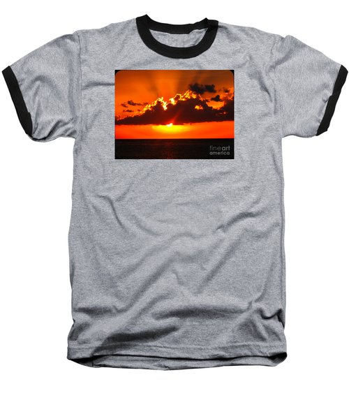 Baseball T-Shirt featuring the photograph Fire In The Sky by Patti Whitten