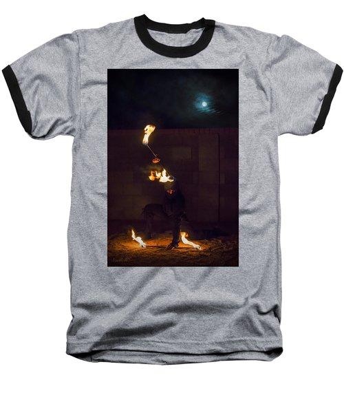 Fire Ninja Baseball T-Shirt