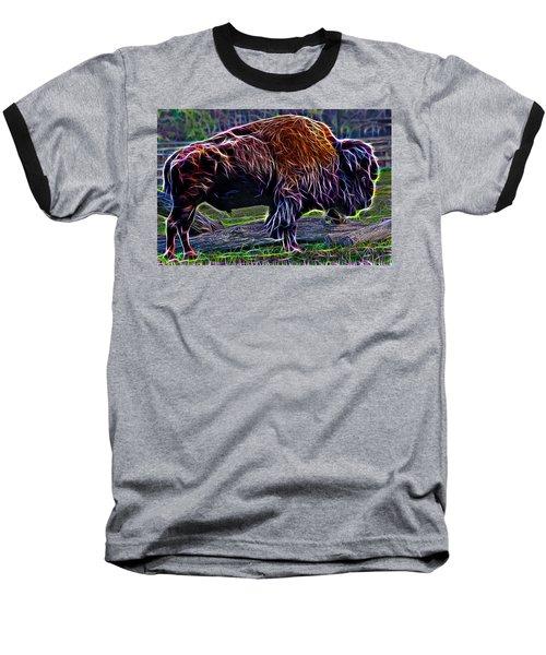 Fire Of A Bison  Baseball T-Shirt