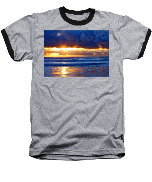Fire On The Horizon Baseball T-Shirt