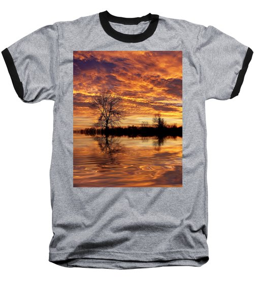Fire Painters In The Sky Baseball T-Shirt