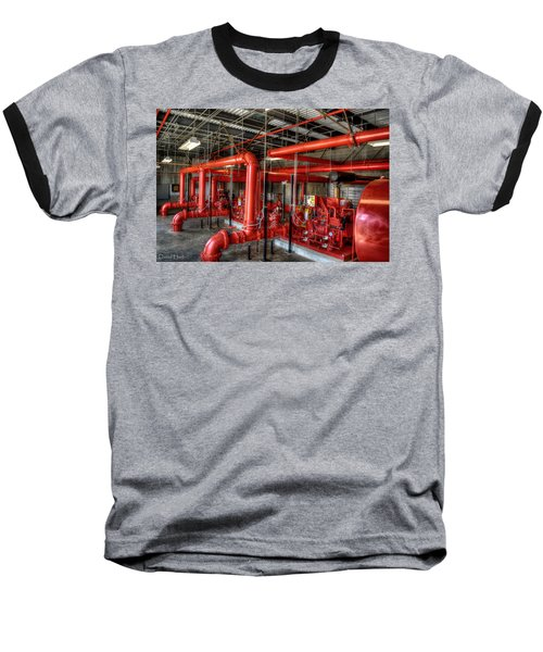 Fire Pump Baseball T-Shirt
