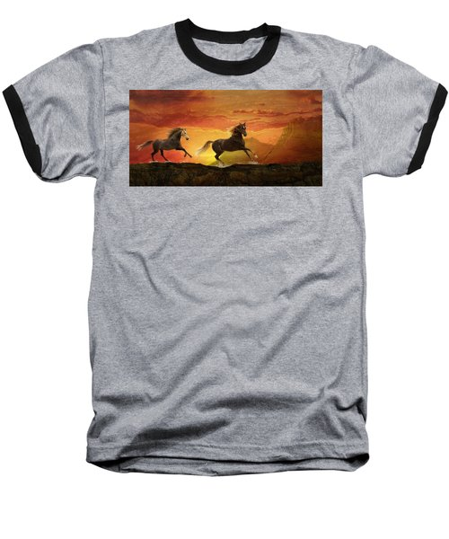 Fire Sky Baseball T-Shirt
