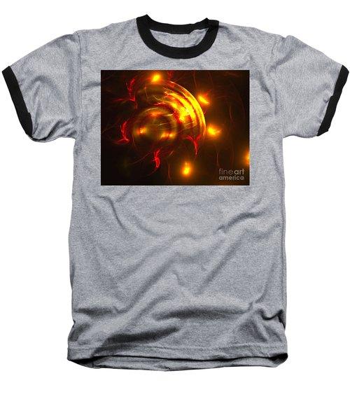 Fire Storm Baseball T-Shirt by Victoria Harrington
