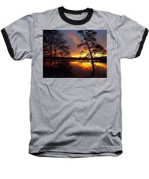 Sunrise Fire Baseball T-Shirt by Dianne Cowen