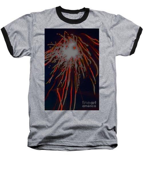 Baseball T-Shirt featuring the photograph Fire Works by Mae Wertz