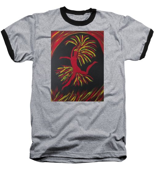 Firebird Baseball T-Shirt by Sharyn Winters