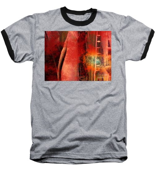 Baseball T-Shirt featuring the painting Firefall  by Yul Olaivar