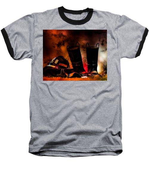 Firefighter Baseball T-Shirt