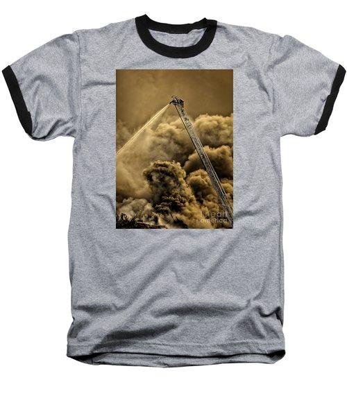 Firefighter-heat Of The Battle Baseball T-Shirt