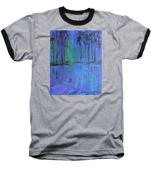 Fireflies Baseball T-Shirt by Patricia Olson