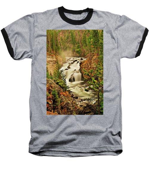 Firehole Falls Baseball T-Shirt