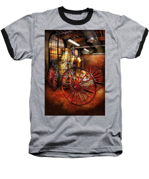 Fireman - One Day A Long Time Ago  Baseball T-Shirt by Mike Savad