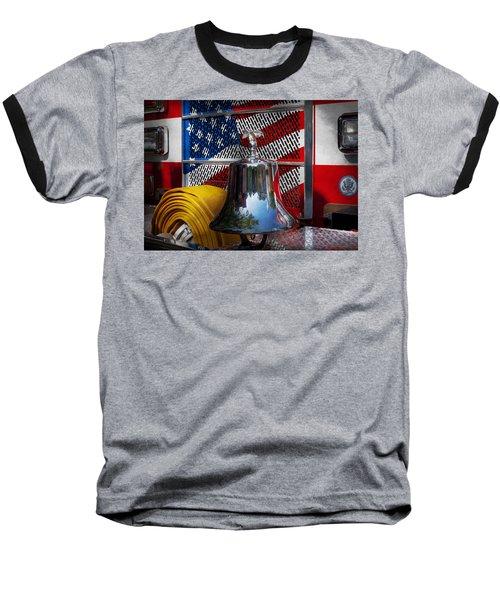Fireman - Red Hot  Baseball T-Shirt by Mike Savad