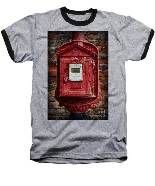 Fireman - The Fire Alarm Box Baseball T-Shirt by Paul Ward