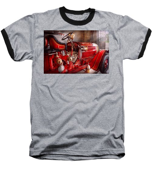 Fireman - Truck - Waiting For A Call Baseball T-Shirt