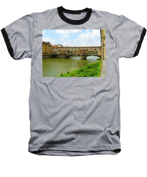 Firenze Bridge Itl2153 Baseball T-Shirt