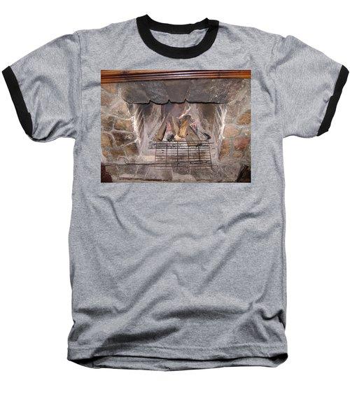 Fireplace Baseball T-Shirt