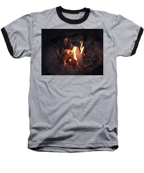 Fireside Seat Baseball T-Shirt by Michael Porchik
