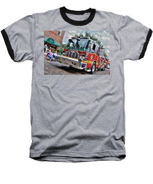 Firetruck Baseball T-Shirt