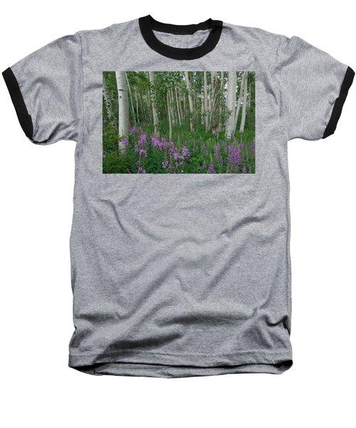 Fireweed And Aspen Baseball T-Shirt