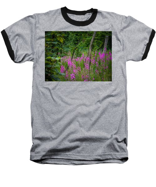 Fireweed In The Irish Countryside Baseball T-Shirt