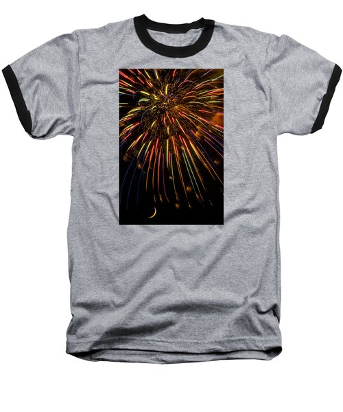 Firework Indian Headdress Baseball T-Shirt