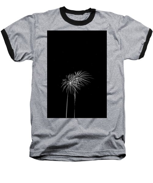 Firework Palm Trees Baseball T-Shirt