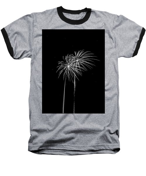 Firework Palm Trees Baseball T-Shirt