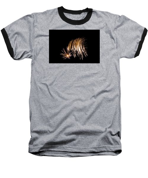 Baseball T-Shirt featuring the photograph Fireworks 1 by Susan  McMenamin