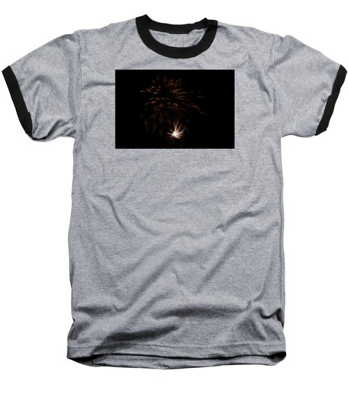 Baseball T-Shirt featuring the photograph Fireworks 2 by Susan  McMenamin