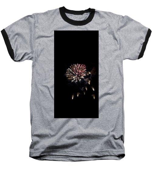 Fireworks At Night Baseball T-Shirt