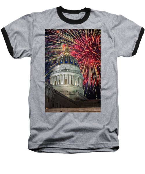 Fireworks At Wv Capitol Baseball T-Shirt