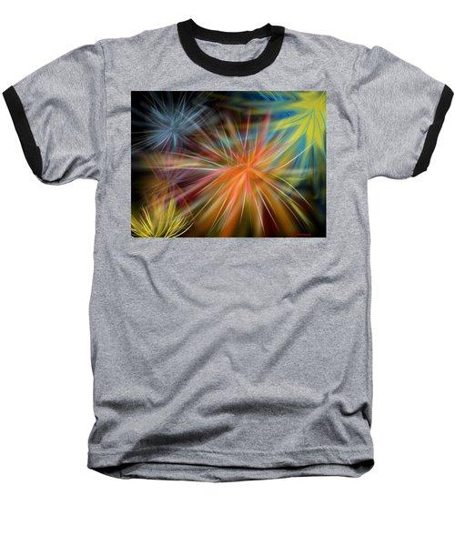 Baseball T-Shirt featuring the digital art Fireworks by Christine Fournier