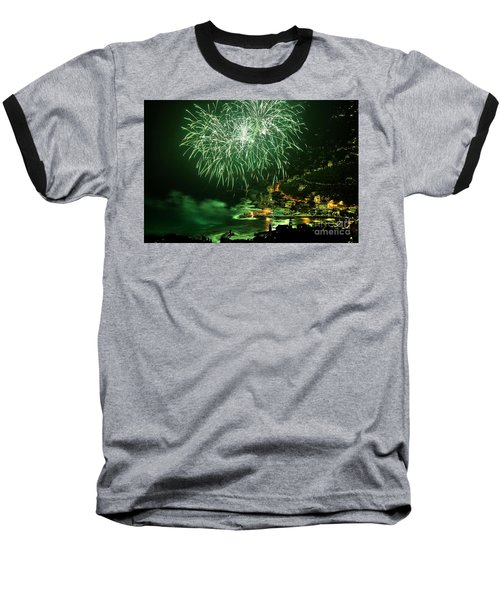 Baseball T-Shirt featuring the photograph Fireworks Hdr by Antonio Scarpi