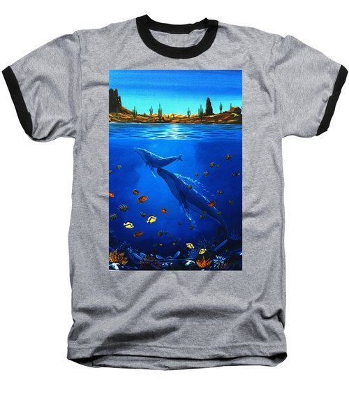 Baseball T-Shirt featuring the painting First Breath by Lance Headlee