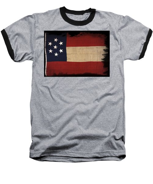 First Confederate Flag Baseball T-Shirt