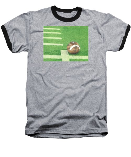Baseball T-Shirt featuring the drawing First Down by Troy Levesque