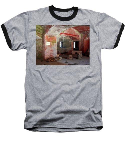 First Level Casemates Baseball T-Shirt by Pamela Hyde Wilson