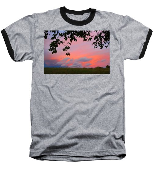 Baseball T-Shirt featuring the photograph First October Sunset by Kathryn Meyer