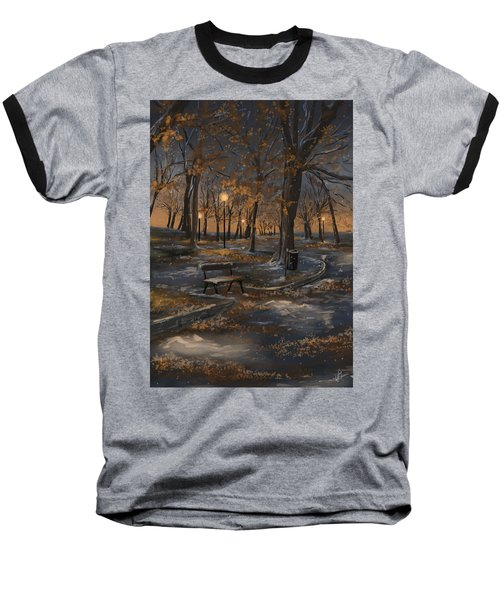 First Snowfall Baseball T-Shirt