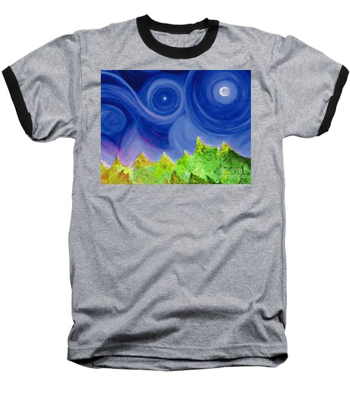 Baseball T-Shirt featuring the painting First Star By  Jrr by First Star Art