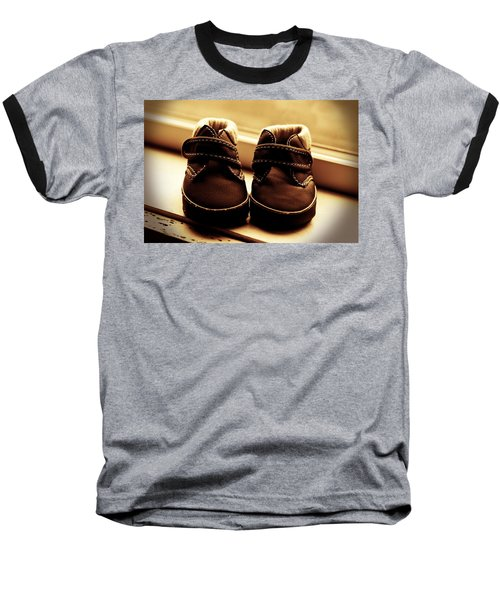Baseball T-Shirt featuring the photograph First Steps by Aaron Berg