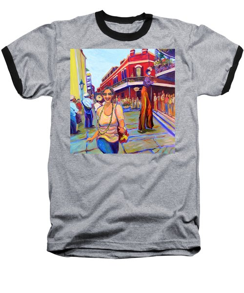 First Trip To New Orleans Baseball T-Shirt by Jeanette Jarmon