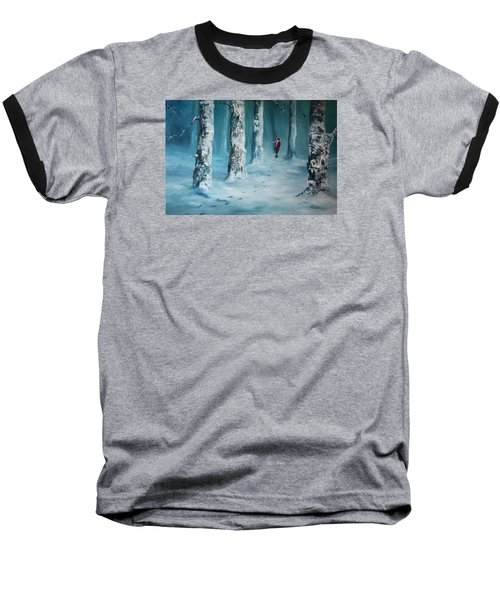 First Trodden Snows Baseball T-Shirt by Jean Walker
