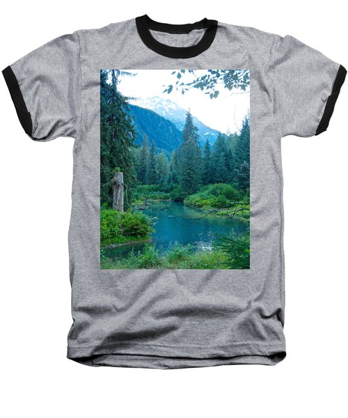 Fish Creek In Tongass National Forest By Hyder-ak  Baseball T-Shirt by Ruth Hager