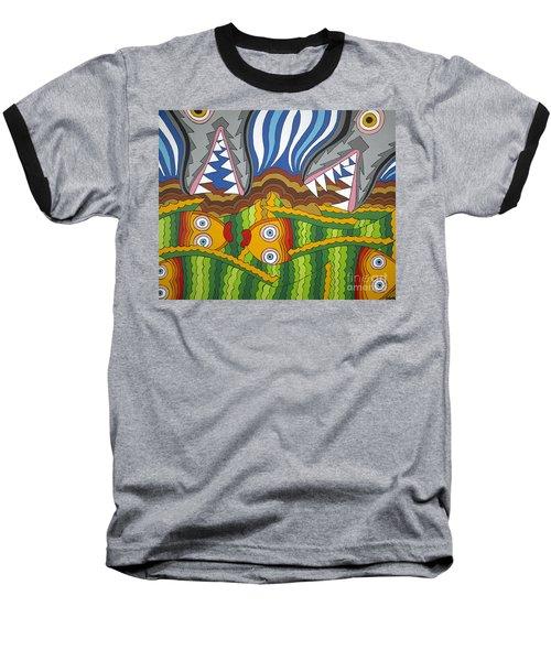 Fish Dinner Baseball T-Shirt