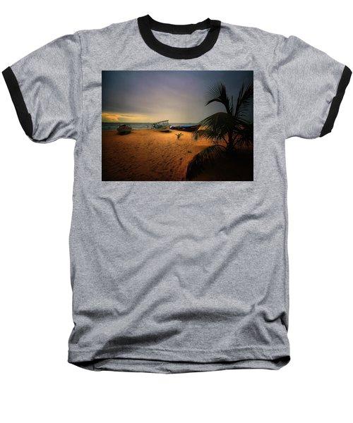 Fish Or Cut Bait Baseball T-Shirt by Robert McCubbin