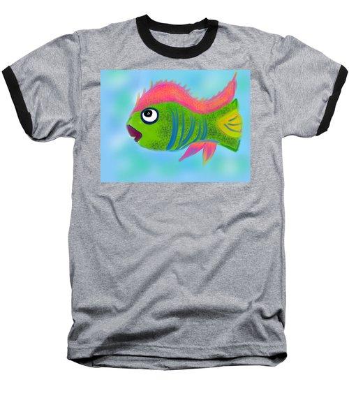 Baseball T-Shirt featuring the digital art Fish Wish by Christine Fournier